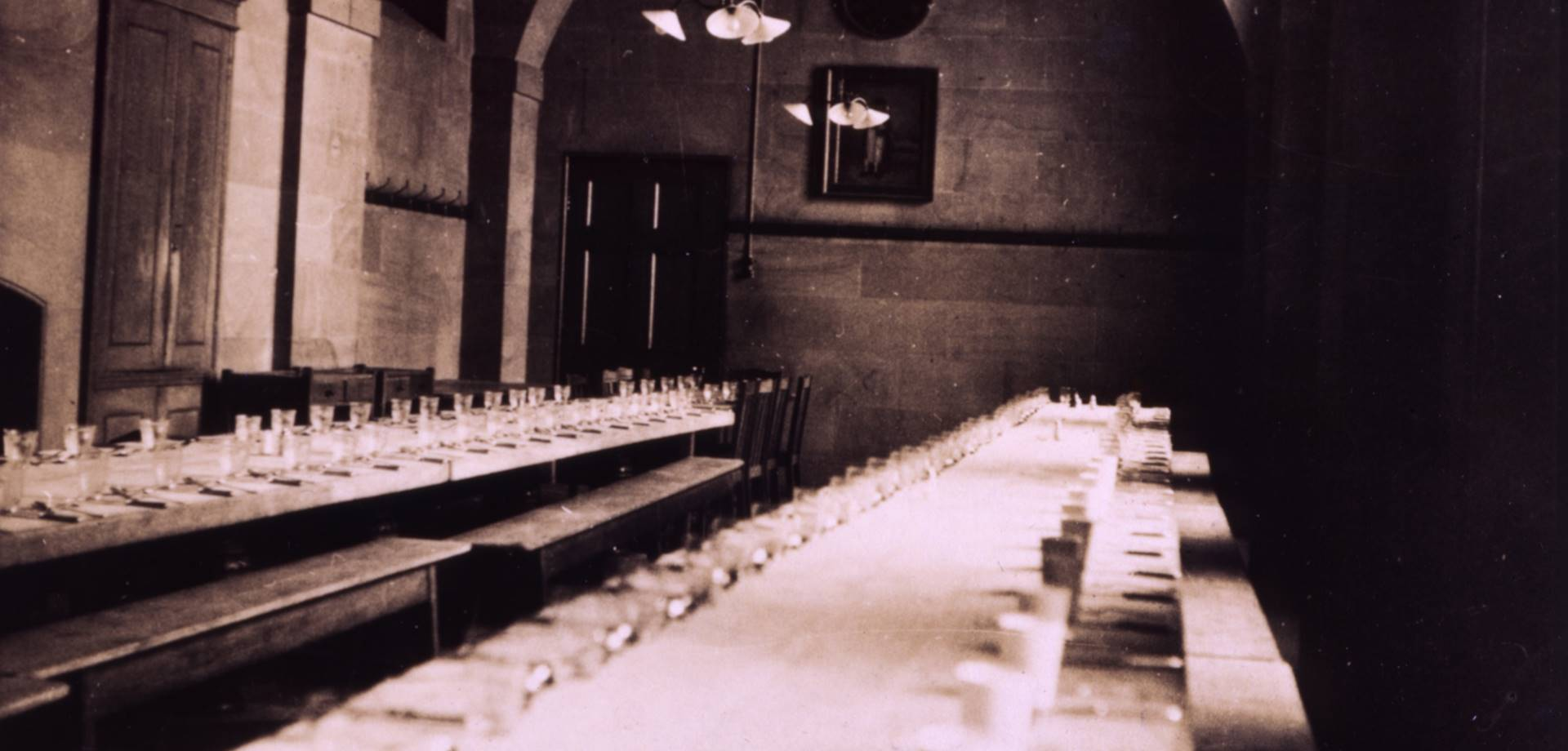 The Chatsworth Servants' Hall tables