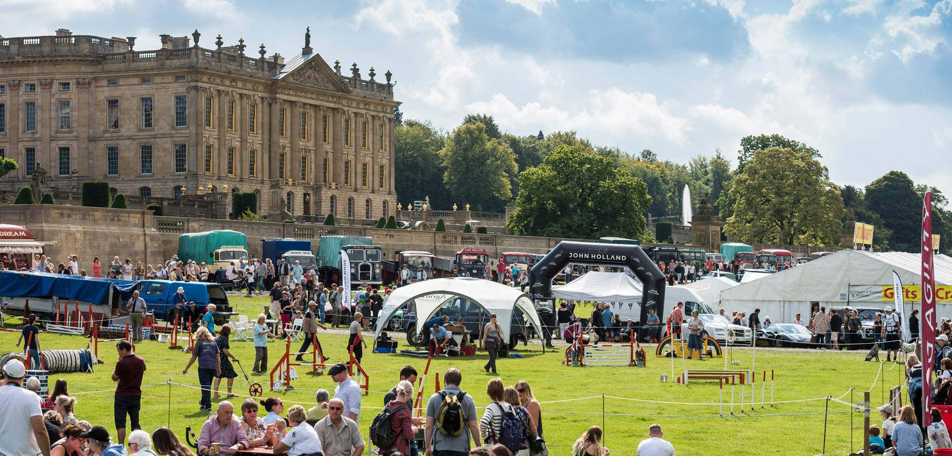 Around the showground at the Chatsworth Country Fair