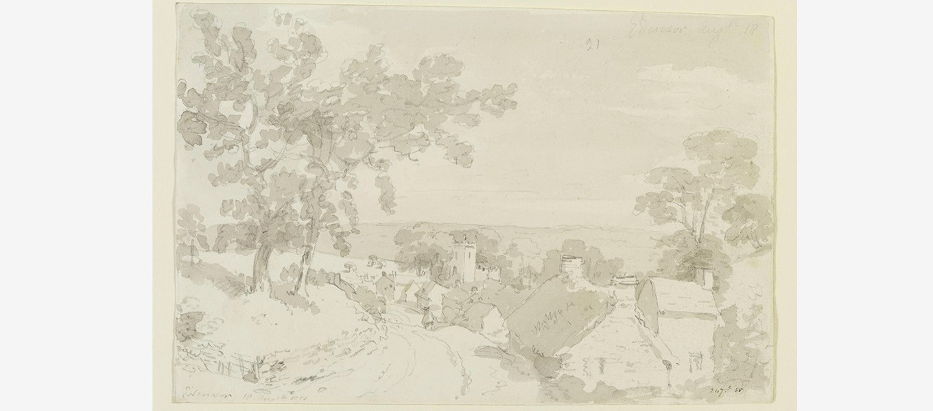 The Entrance to Edensor, 1801, by John Constable © Victoria and Albert Museum, London