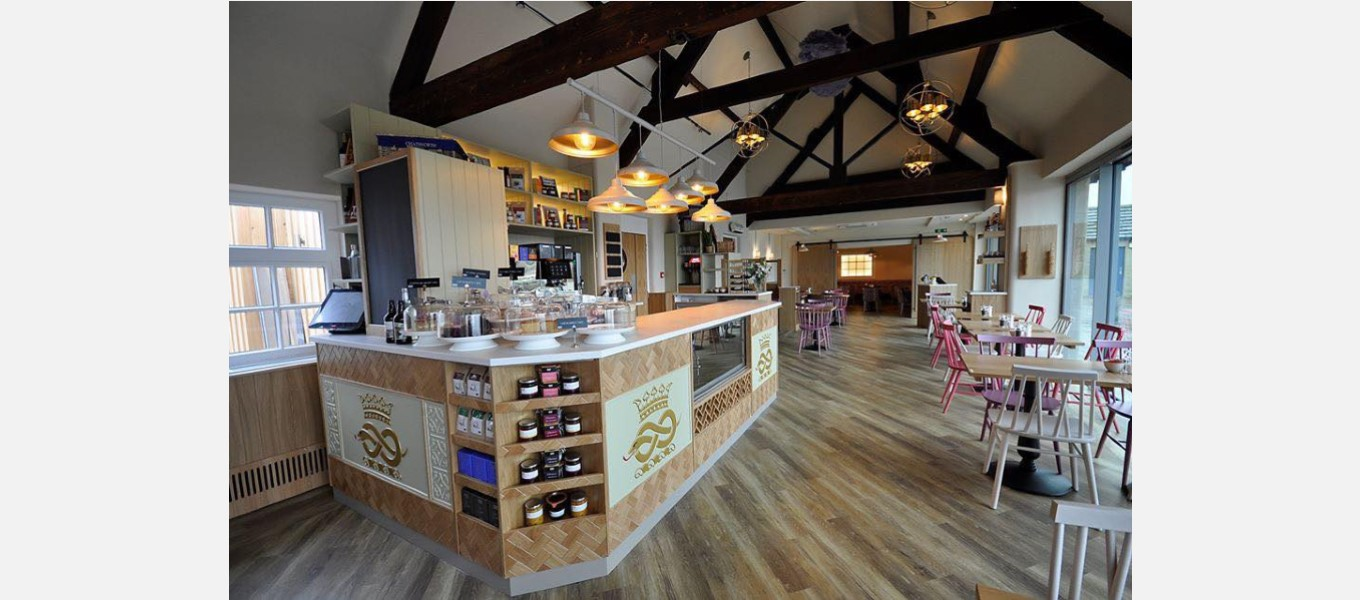 The newly-refurbished estate farm shop café