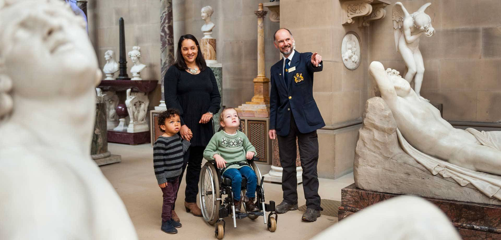 Visitors with mobility impairments